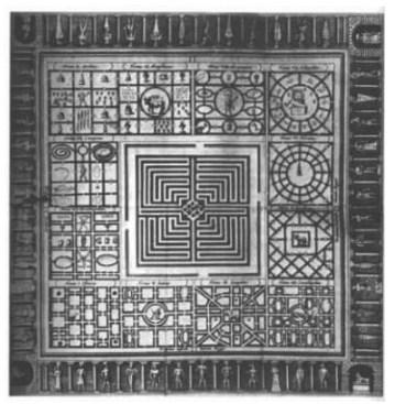 Египетският лабиринт. Реконструкция на Атанасий Кирхер
